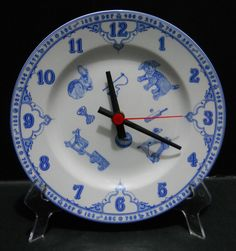 Spode Edwardian Childhood Porcelain Plate Wall Clock Made in England 8 in #Spode #finechina #porcelain #plate #clock #plateclock #madeinengland #edwardian #childhood #collectible #clocklover