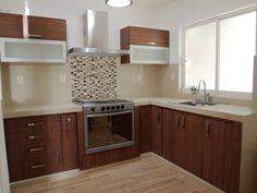 13 cocinas pequeñas que debes ver antes de remodelar la tuya Modern Kitchen Cabinets, Kitchen Dining, Kitchen Decor, Kitchen Interior, Interior Design Living Room, Kitchen Models, Cuisines Design, Kitchenette, Home Kitchens