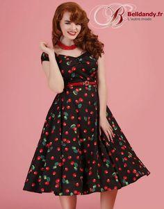 Robe Rockabilly Retro Pin-Up 50s Dolores Doll Cerises Cherry  http://www.belldandy.fr/robe-rockabilly-retro-pin-up-50-s-dolores-doll-cerises-cherry.html https://www.facebook.com/belldandy.fr/photos/a.338099729399.185032.327001919399/10154963371244400/?type=3