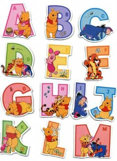 Raised Relief Sticker Set featuring the Adorable Winnie the Pooh and his Pals Helping Your Children Learn the Alphabet 31x48cm:Amazon.co.uk:Kitchen & Home