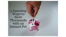 There are many amazing ways to save money. You can start with an instant pot. These three recomendations are easy to do and you'll save thousands. Ways To Save Money, Money Saving Tips, How To Make Money, Best Blogs, Mom Blogs, Thing 1, Working Moms, Blogging For Beginners, Make Money From Home