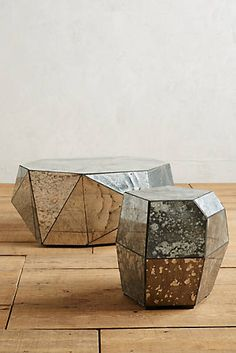 $800...Faceted Mirror Coffee Table