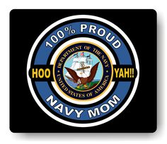 100% Proud Navy Mom Mouse Pad - Any Title, $12.95