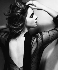 Emma Watson photographed by Vincent Peters for British GQ (Oct....