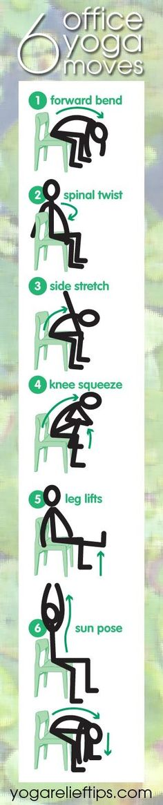Office Yoga: Easy Chair #Yoga Exercises