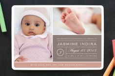 From Your Nose to Your Toes Birth Announcements by Rose Lindo at minted.com