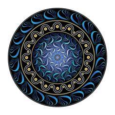 2582 by Alan Bennington Fractal Images, Fractal Art, Fractals, Art Prints For Sale, Round Frame, Archetypes, Mandala Design, Trippy, Meditation
