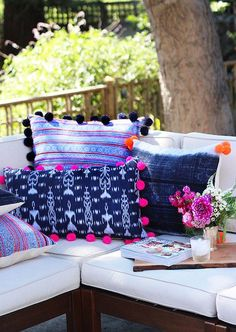 Make It: DIY Pom Pom Fringed Pillows