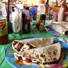 Baleadas Honduras food! - Kathy From Honduras - http://www.KathyFromHonduras.com