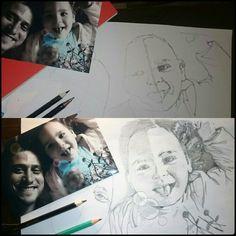 Projet portrait... A terminer  (A4,critérium, crayon..)