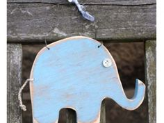 Hanging Wooden Elephant By KR Creatives - Handmade to your colour choice -  Available through Countrified!