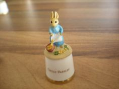 RARE SUTHERLAND  CHINA BEATRIX POTTER  THIMBLE -  CECILY PARSLEY