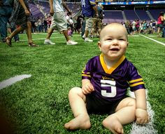 Are you ready for some football? Levi is.