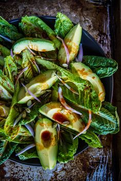 Smoky Romaine and Avocado Salad by heathercristo #Salad #Romaine #Avocado