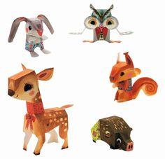 #DIY #paper forest #animals by #Djeco from www.kidsdinge.com https://www.facebook.com/pages/kidsdingecom-Origineel-speelgoed-hebbedingen-voor-hippe-kids/160122710686387?sk=wall