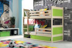 Patrová postel Rocky - borovice - Dětské patrové postele