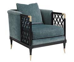 Кресло с ажурными подлокотниками Lattice Entertain You от Caracole такое эффектное, что его нужно ставить только на самое видное место в доме.