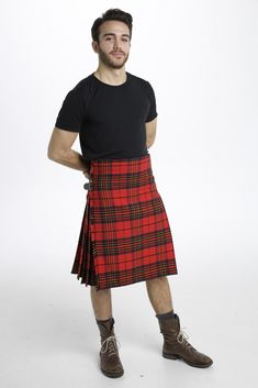 The Clan Leslie Tartan Kilt lets you show off your heritage by wearing your clan's tartan, or it can simply be worn because you enjoy the unique colors it bears. Mostly red, this vibrant and bold kilt is sure to catch the eye of anyone you pass by. #ClanLeslieTartanKilt #ClanLeslieTartan #Kilts #KiltsForSale
