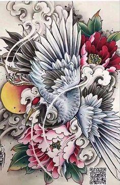 Japanese Pheonix Tattoo, Japanese Koi Fish Tattoo, Tattoo Japanese Style, Japanese Tattoo Designs, Dragon Tattoo Sketch, Tattoo Sketches, Tatoo Floral, Go Tattoo, Japan Tattoo Design