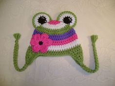 Silly Frog Crocheted Hat - Photo Prop - Available in Any Size or Color Combination. $13.50, via Etsy.