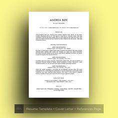 minimalist resume ms word andrea
