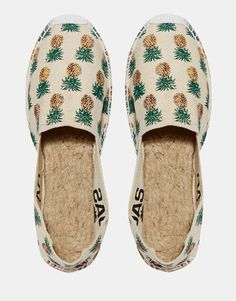 Image 3 - OAS - Chaussures plates à enfiler style espadrilles motif ananas