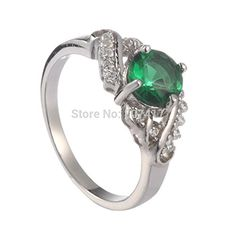 GemMart Jewelry green Cubic Zirconia Ring R--291r sz 6 7 8 9 First class products Favourite