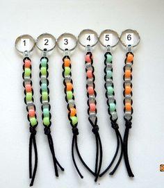 Pony Bead Keychain, glow in the dark beads. $1.50, via Etsy.