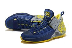 reputable site 54c83 d52b2 New Jordan Why Not Zer0.1 Chaos Michigan College Navy Amarillo White-3 White