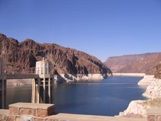 Take a side trip to Hoover Dam.  This photo was taken in 2006.  I wonder how low the water is today