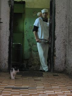 The story behind this photo is haunting and beautiful. Photographed by Norman Reedus in a Moscow maximum security prison.
