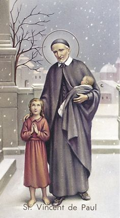 Image of ST VINCENT DE PAUL HOLY CARD