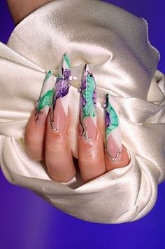 Nails Shape Edge Nailart 60 Ideas For 2019 Edgy Nails, Dark Red Nails, Purple Nails, Fancy Nails, Stiletto Nails, Trendy Nails, Purple Nail Designs, Cool Nail Designs, Acrylic Nail Designs