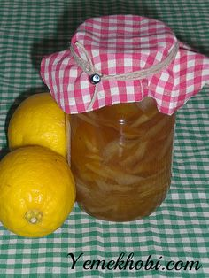 limon reçeli Jam Recipes, Preserves, Lunch Box, Food And Drink, Pudding, Pasta, Cooking, Desserts, Kitchen