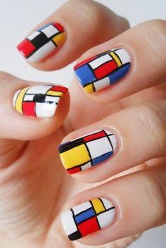 art on nails Piet Mondrian, Art History Projects For Kids, How To Do Nails, Fun Nails, Bauhaus, Color Block Nails, Fabulous Nails, Cool Nail Designs, Nail Polish Colors