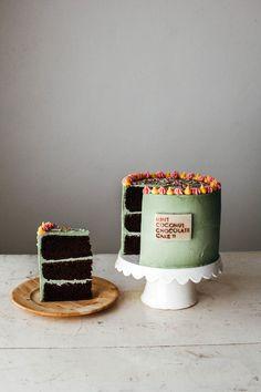 mint chocolate coconut cake