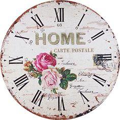 DECOPAULA Clock Face Printable, Coffee Clock, Clock Template, Shabby Chic Clock, Rose Clock, Clock Craft, Decoupage Printables, Decoupage Vintage, Floral Wall