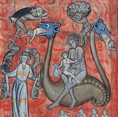 scenes in hell Apocalypse, Belgium ca. 1313 BnF, Français 13096, fol. 86v