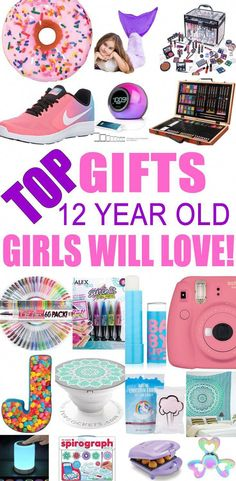 Top Gifts For 12 Year Old Girls! Best gift suggestions & presents for girls twelfth birthday or Christmas. Find the best ideas for a girls bday or Christmas. Shop the best gift ideas now for tween & teens. gift for girls Best Gifts For 12 Year Old Girls Presents For Teenage Girls, Birthday Presents For Teens, Teen Presents, Teenage Girl Gifts, Gifts For Kids, Christmas Presents For Girls, Present For Teens, Christmas Ideas For Girls, 12 Year Old Christmas Gifts