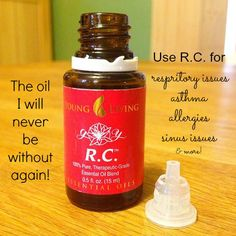 R.C. Essential Oil Blend from Young Living...great for respiratory issues!