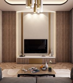 luxury Master Bedroom with Living Area on Behance Modern Tv Room, Modern Tv Wall Units, Modern Living, Modern Bedrooms, Trendy Bedroom, Luxury Rooms, Luxurious Bedrooms, Home Room Design, Master Bedroom Design