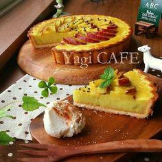 秋色♡スイートポテトタルト Japanese Cake, Japanese Sweets, Sweets Recipes, Cake Recipes, Sweet Cooking, Food Challenge, Cafe Food, Sweet Cakes, Desert Recipes
