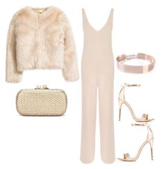 """Rose Gold"" by hautecoutureblvd on Polyvore featuring Warehouse and Charlotte Russe"