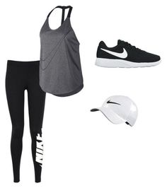 Workout Outfit by kaitlyntyler2003 ❤ liked on Polyvore featuring NIKE