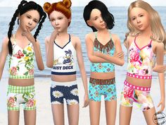 Sims 4 CC's - The Best: Cute Bikini Set for Girls by Fritzie.Lein