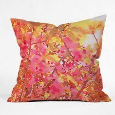 Jacqueline Maldonado Cherry Blossom Canopy Throw Pillow | DENY Designs Home Accessories