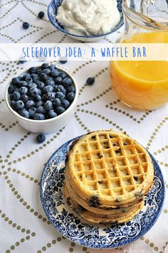I am always looking for fun things to do when my kids have my niece & nephew over for a sleepover. This waffle bar was a ton of fun! #EggoWaffleBar #Ad we know stuff | Sleepover Idea: A Waffle Bar | http://www.weknowstuff.us.com