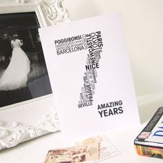 word for anniversary card