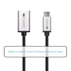 Amazon.com: iCASEIT USB Type C (USB-C) to USB 3.0 A Female Cable for USB Type-C Devices Including the new MacBook, ChromeBook Pixel, Nokia N1 Tablet, OnePlus 2 & Other Type-C Supported Devices - SILVER 20cm: Computers & Accessories