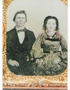 Wedding photo of James and Lovie Wise Stewart, Barbour County, Alabama, 1849.